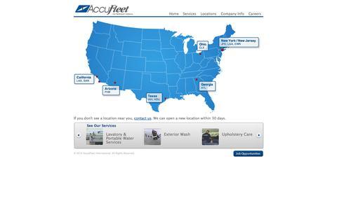 Screenshot of Locations Page accufleet.com - Locations: AccuFleet International - captured Oct. 4, 2014