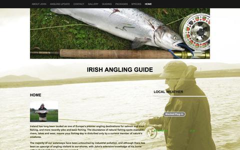 Screenshot of Home Page irishanglingguide.ie - irish Angling Guide - captured Nov. 26, 2016