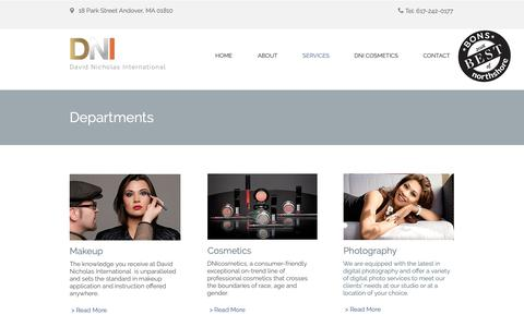 Screenshot of Services Page dnimakeup.com - Makeup Services | Makeup Training | Makeup Instruction - captured Oct. 7, 2018