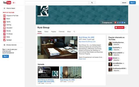 Screenshot of YouTube Page youtube.com - Kurz Group  - YouTube - captured Oct. 23, 2014