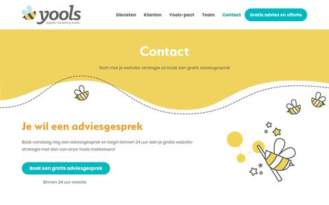 Screenshot of Contact Page yools.be - Yools Contact   Digitale Marketing Studio Brussel - captured Nov. 6, 2018