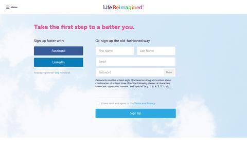 Screenshot of Signup Page aarp.org - Sign Up - Life Reimagined - captured April 19, 2016