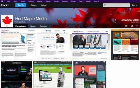 Screenshot of Flickr Page flickr.com - Flickr: RedMapleMedia's Photostream - captured Oct. 26, 2014