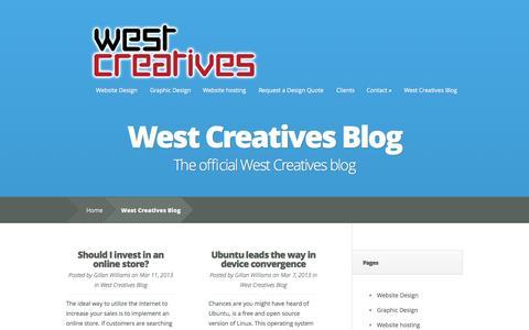 Screenshot of Blog westcreatives.co.uk - West Creatives blog - captured Oct. 26, 2014