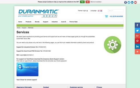 Screenshot of Services Page duranmatic.nl - Services - Duranmatic - captured Oct. 13, 2017