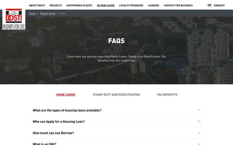 Screenshot of FAQ Page dostirealty.com - Dosti Realty: Friends for Life - captured Nov. 24, 2016