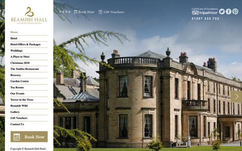 Screenshot of Home Page beamish-hall.co.uk - Beamish Hall Hotel County Durham | 4* Hotel North East - captured Oct. 5, 2018
