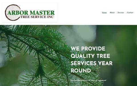Screenshot of Home Page arbor-master.com - Arbor Master Tree Service Inc. - captured Dec. 5, 2018