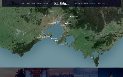 Screenshot of Contact Page rtedgar.com.au - Contact | RT Edgar - captured Aug. 15, 2016