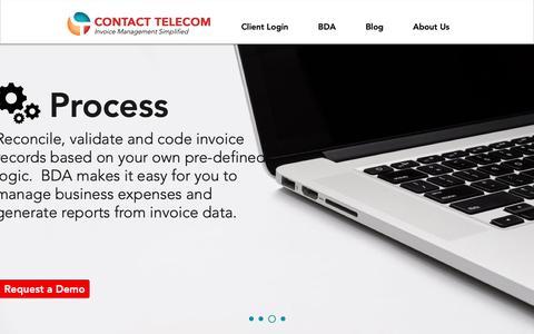 Screenshot of Home Page contacttelecom.com - Invoice Processing Automation | Contact Telecom - captured Sept. 29, 2018