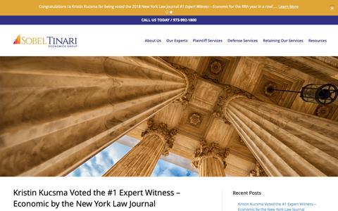 Screenshot of Press Page sobeltinarieconomics.com - News | Sobel Tinari Economics Group - captured Oct. 20, 2018