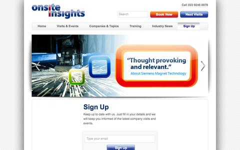 Screenshot of Signup Page onsiteinsights.co.uk - Sign Up | Onsite Insights - captured Sept. 30, 2014