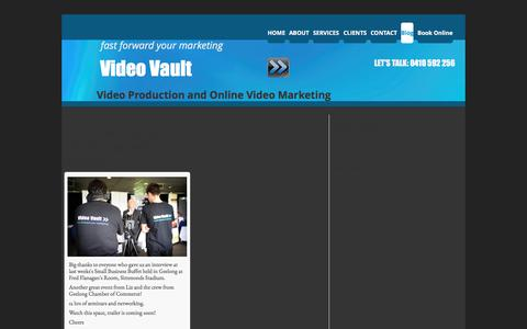 Screenshot of Blog videovault.com.au - Video Marketing Blog - captured Nov. 5, 2017