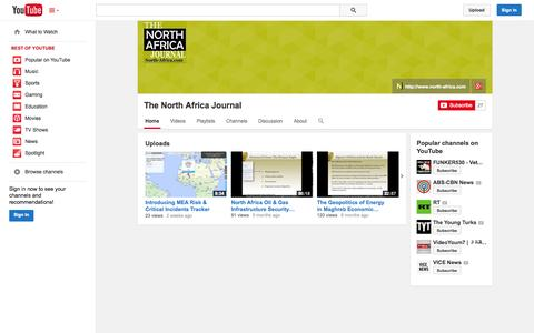 Screenshot of YouTube Page youtube.com - The North Africa Journal  - YouTube - captured Oct. 26, 2014