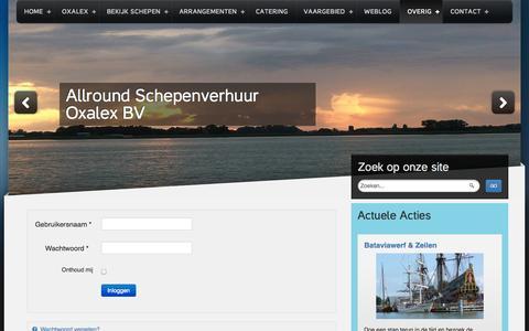 Screenshot of Login Page oxalex.nl - Scheeps eigenaar Log in | Zeilen IJsselmeer - captured Oct. 4, 2014