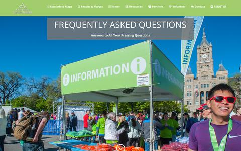 Screenshot of FAQ Page saltlakecitymarathon.com - FAQs | Salt Lake City Marathon - captured July 1, 2018