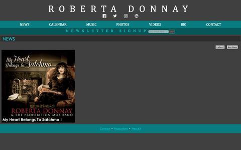 Screenshot of Press Page robertadonnay.com - Roberta Donnay - captured Oct. 25, 2018