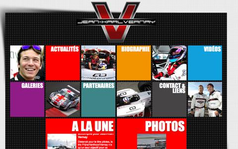 Screenshot of Home Page jkvernay.com - Jean-Karl Vernay Officiel - Pilote WRT et Absolute Racing - captured Oct. 11, 2015