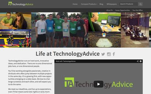 Screenshot of Jobs Page technologyadvice.com - Careers - TechnologyAdvice - captured Sept. 23, 2014