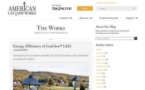 Screenshot of Blog americangaslamp.com - Our Blog | American Gas Lamp Works - captured May 11, 2018