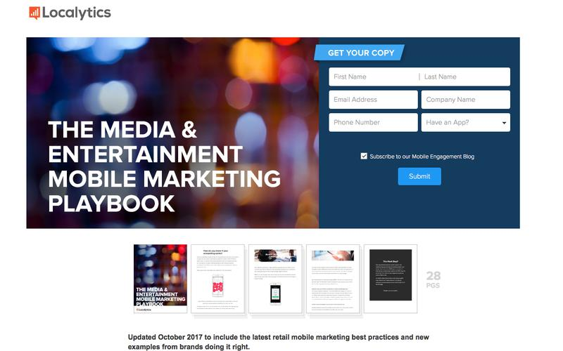 Get the Media and Entertainment Mobile Marketing Playbook--Localytics
