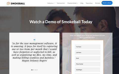 Watch a Demo of Smokeball, The Case Management Software