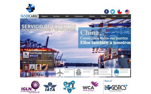 Screenshot of Home Page fasercargo.cl - Transporte internacional - servicios  de operador logístico - captured Oct. 5, 2014