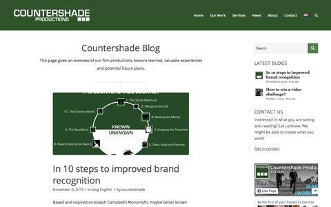 Screenshot of Press Page countershade.nl - News - Countershade Productions - captured Jan. 31, 2016