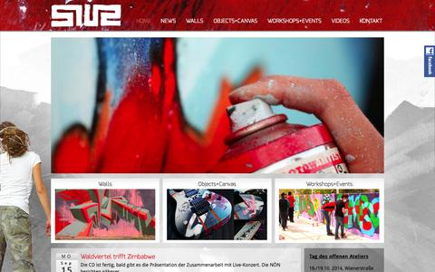 Screenshot of Home Page siuz.at - SIUZ - Graffiti & Artwork - captured Sept. 23, 2014