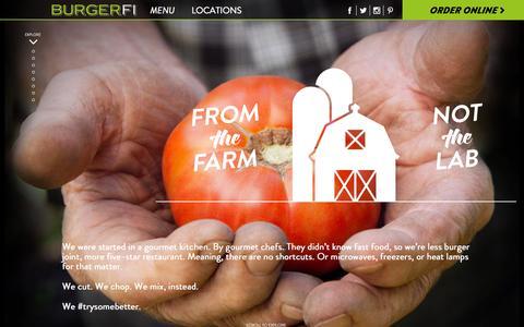 Screenshot of Menu Page burgerfi.com - Menu - BURGERFI - captured Nov. 9, 2015