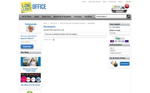 Screenshot of Developers Page lowcostoffice.ie - Developers - Cheap deals from LowCostOffice.ie - captured Sept. 30, 2014