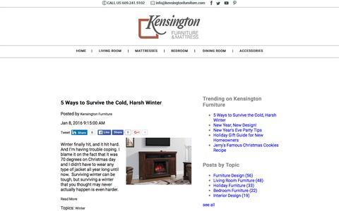 Screenshot of Blog kensingtonfurniture.com - Kensington Furniture Style Blog - captured Jan. 9, 2016