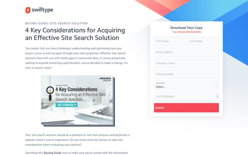 4 Key Considerations for Acquiring an Effective Site Search Solution