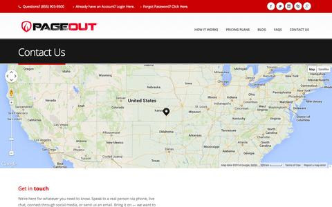 Screenshot of Contact Page page-out.com - Page-Out - On Call Availability - captured Oct. 1, 2014