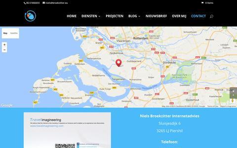 Screenshot of Contact Page nielsbroekzitter.nl - Contact Niels Broekzitter - captured Dec. 13, 2016