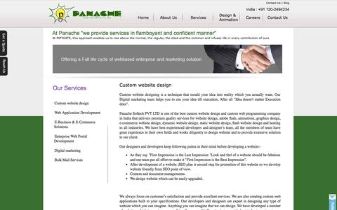 Screenshot of Services Page panachesoftech.com - Website Development Service India | SEO, Web Design Services Noida - captured Nov. 5, 2014