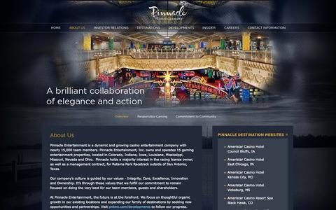 Screenshot of About Page pnkinc.com - About Us » Pinnacle Entertainment, Inc. - captured Sept. 19, 2014
