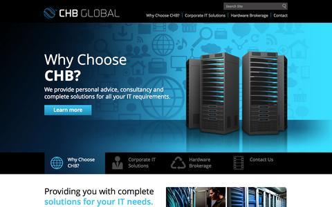 Screenshot of Home Page chbglobal.com - CHB Global - captured Oct. 1, 2014