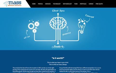 Screenshot of Home Page massoftind.com - Web Design India - Website Development Company India - captured Jan. 19, 2016