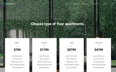 Screenshot of Pricing Page novarchstudio.com - Pricing Simple - NovArch   Architecture Studio - captured Dec. 10, 2018