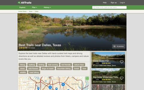 Screenshot of alltrails.com - Best Trails near Dallas, Texas  | AllTrails.com - captured March 5, 2017