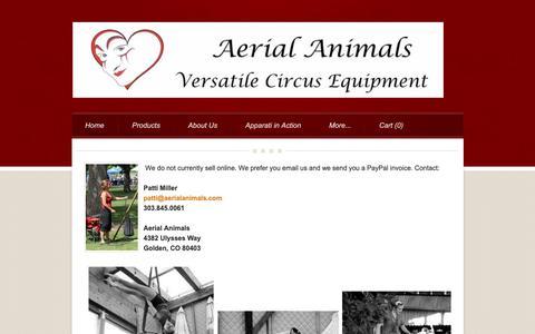 Screenshot of Contact Page aerialanimals.com - Contact US - Aerial Animals - captured Oct. 3, 2018