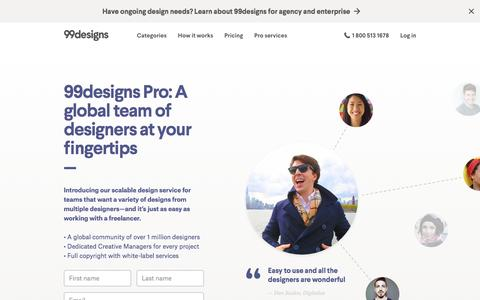 Screenshot of 99designs.com - Outsource Your Graphic Design Jobs & Projects | 99design - captured March 3, 2017