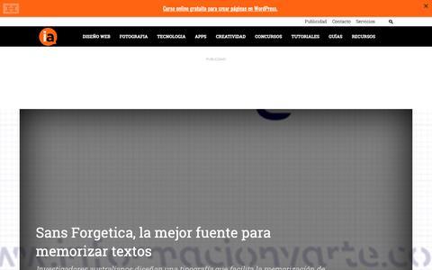 Screenshot of Home Page informacionyarte.com - Blog de Diseño Gráfico en español - informacionyarte.com - captured Oct. 10, 2018