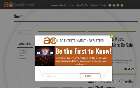 Screenshot of Press Page acentertainment.com - News   AC Entertainment - captured Dec. 24, 2017
