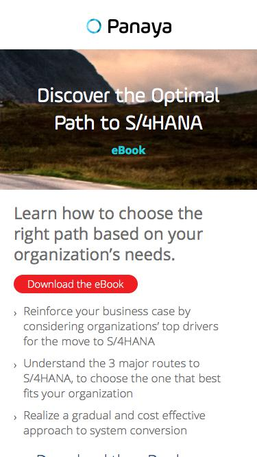 Discover the Optimal Path to S/4HANA – Get the eBook
