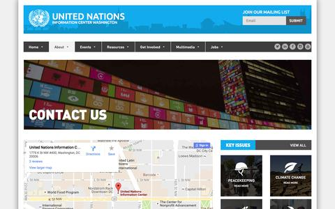 Screenshot of Contact Page unicwash.org - Contact Us - United NationsUnited Nations - captured Nov. 29, 2016