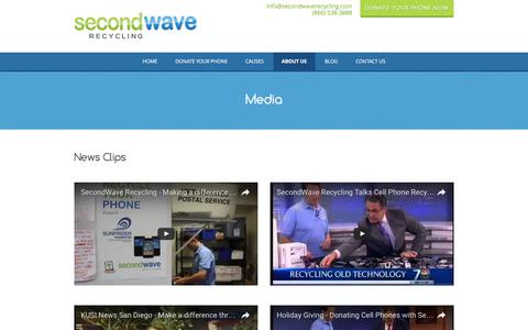 Screenshot of Press Page secondwaverecycling.com - SecondWave Recycling reviews news, interviews and press - captured July 23, 2016