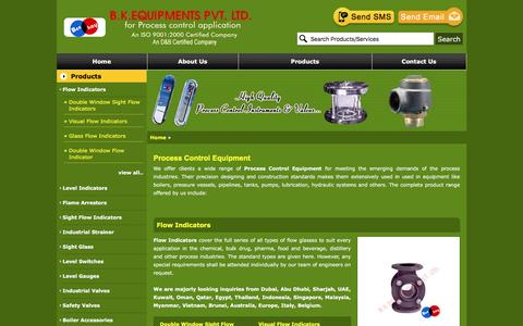 Screenshot of Products Page levelandflow.org - Instrumentation Equipment, Flow Indicators, Level Gauges, Industrial Strainers, Process Control Equipment, India - captured Nov. 5, 2016