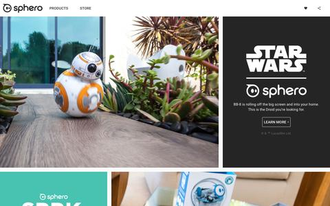 Screenshot of Home Page sphero.com - Sphero | Connected Toys - captured June 21, 2016